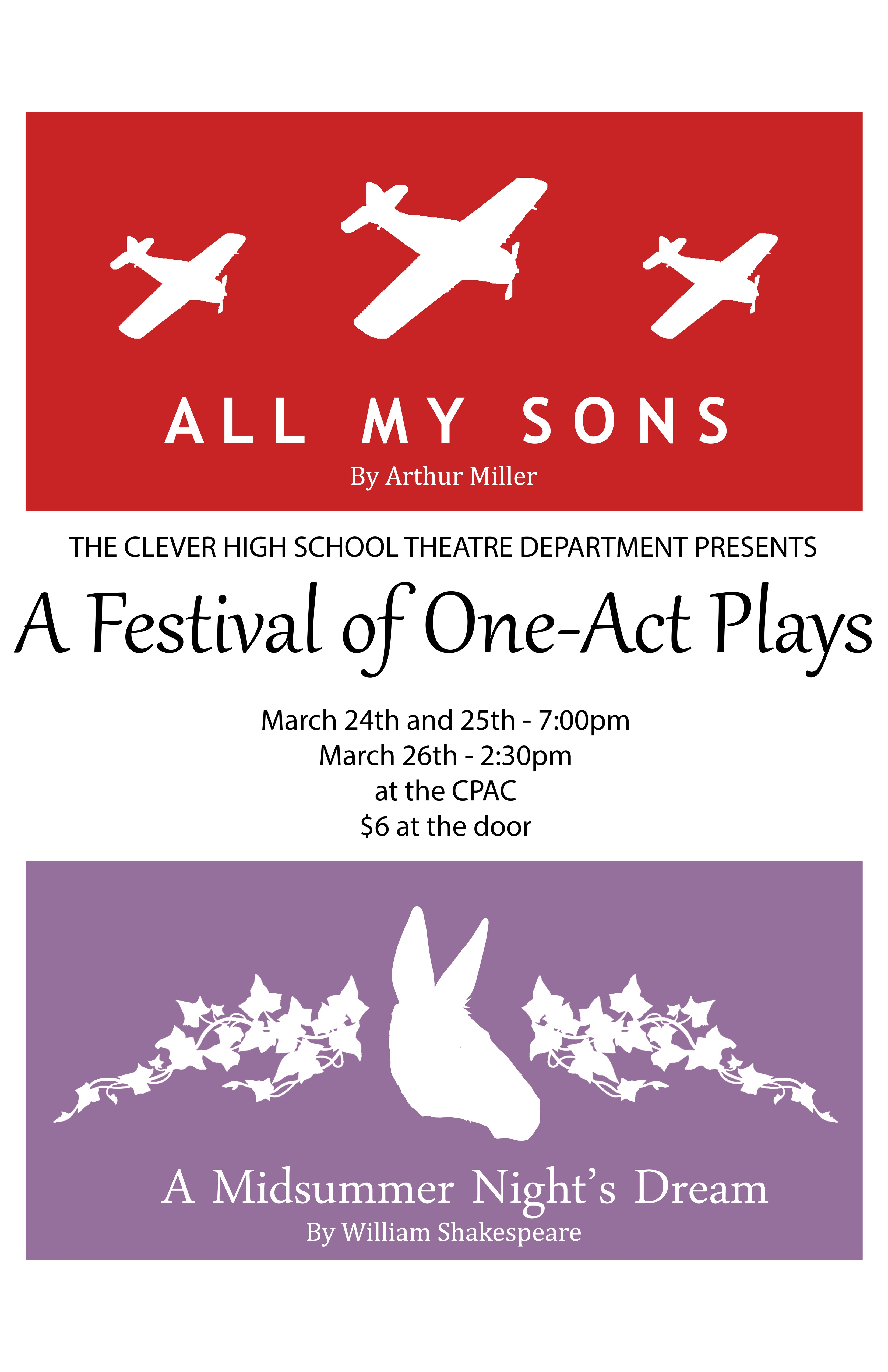 Join the Clever Theatre Department for it's first ever One