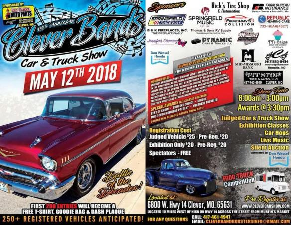 Clever Bands Car & Truck Show May 12th | Clever Innovations, LLC